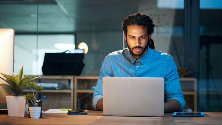 IT developer at work