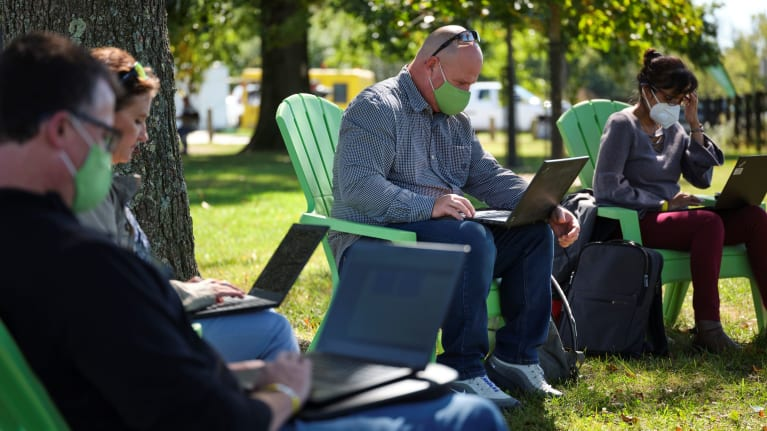 Take It Outside: Work Moves Outdoors During Pandemic