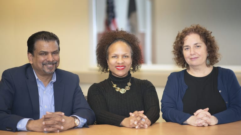 L-R: Rajendra Persaud, Dawn M. Pinnock and Barbara Grossman, New York City Department of Citywide Administrative Services