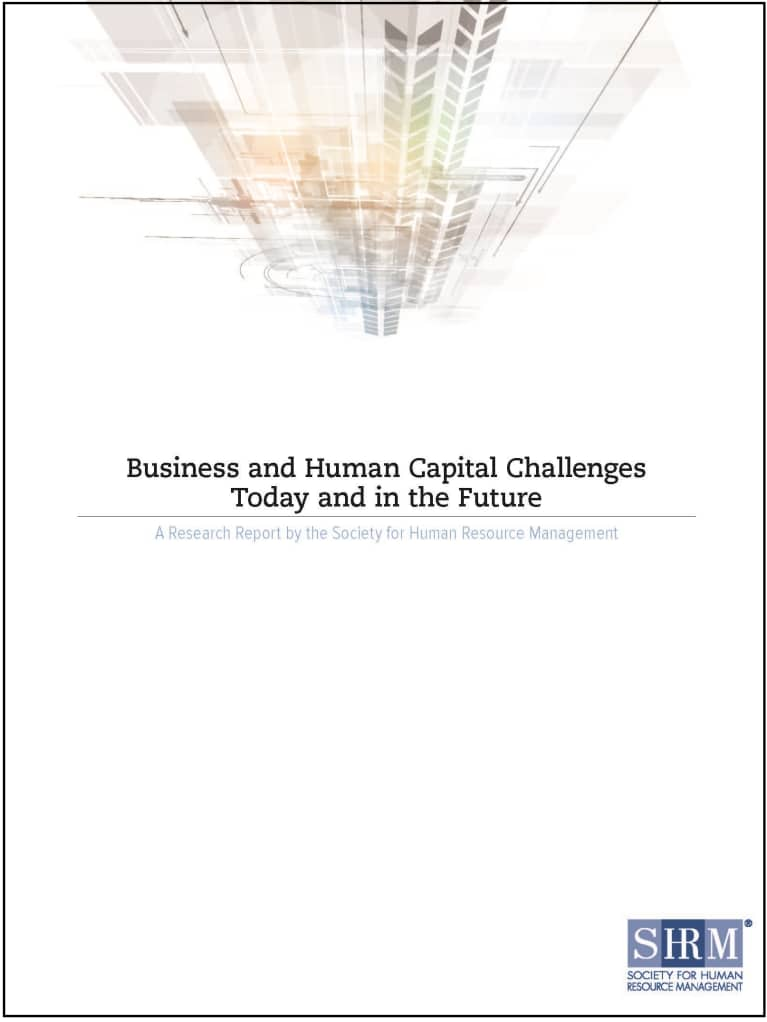 Business and Human Capital Challenges Today and in the Future