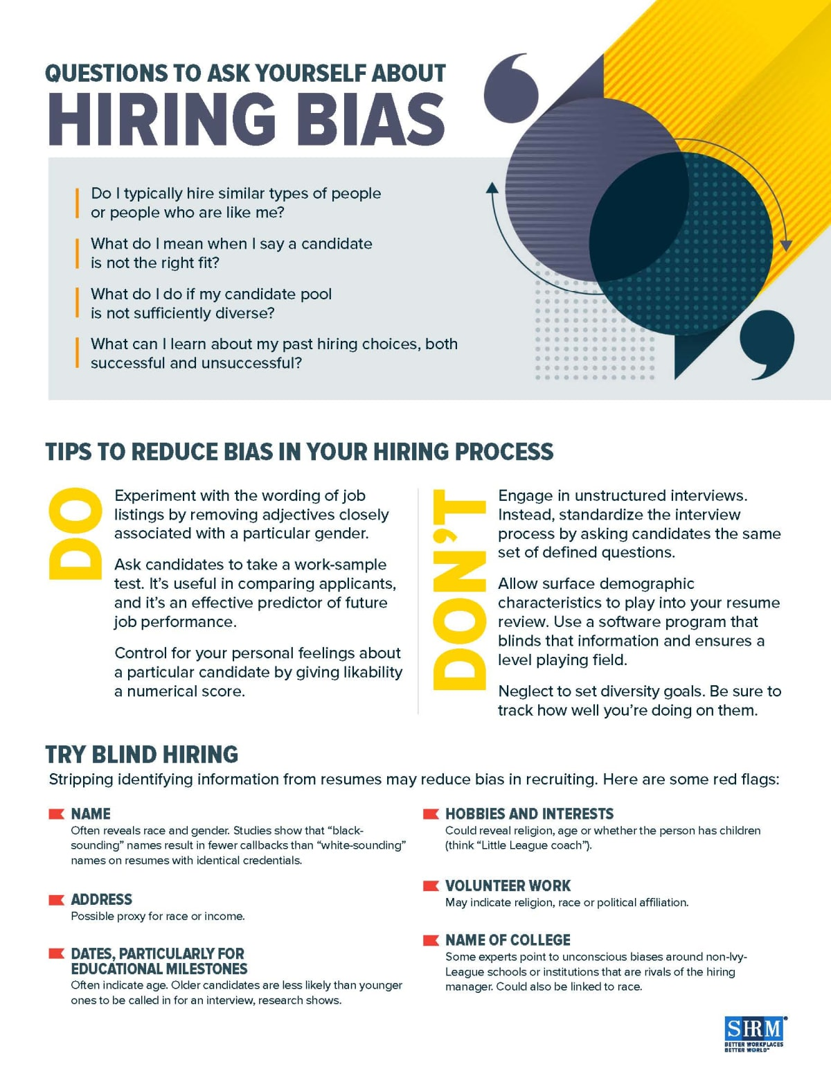 Questions to Ask about Hiring Bias