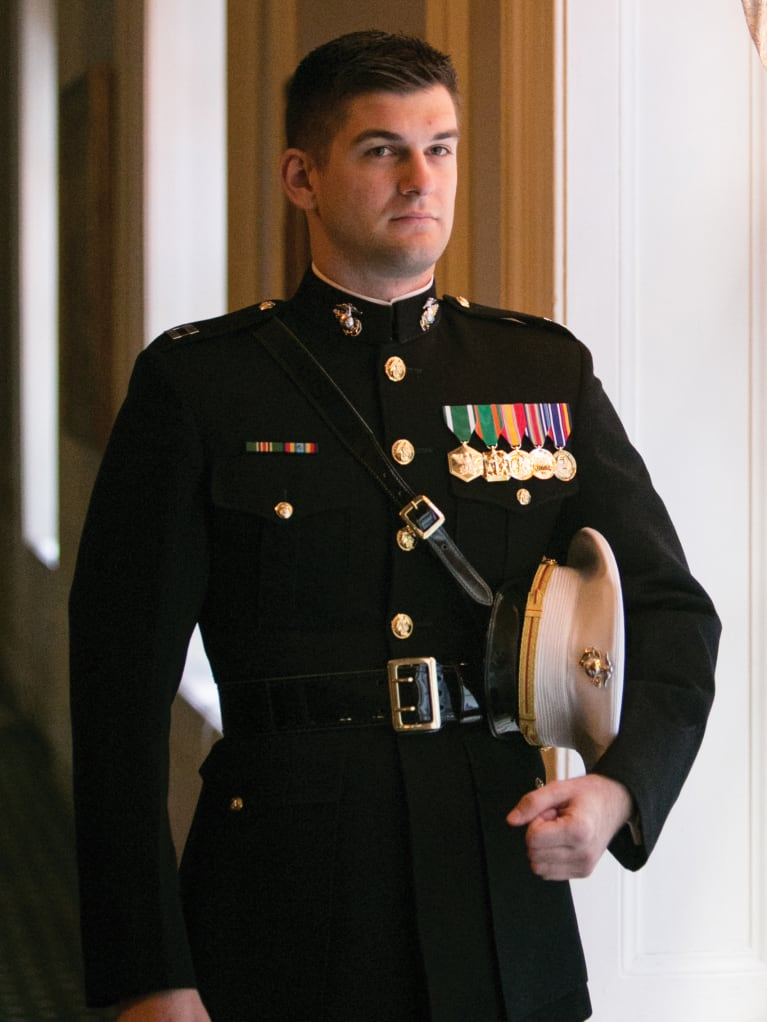 Former Marine Victor Szeligowski, 28, started as an IT project manager at AT&T in March. During the interview process, the hirin