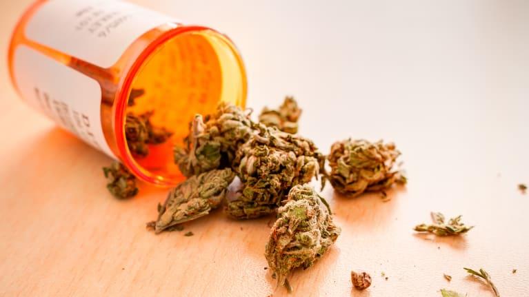 marijuana in a prescription bottle