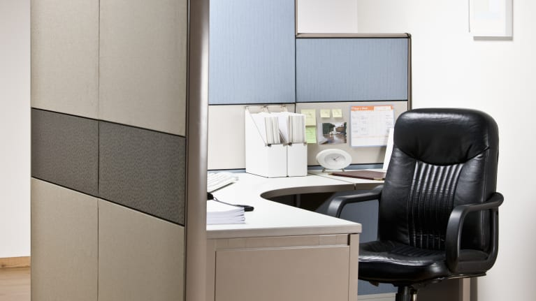 an empty cubicle