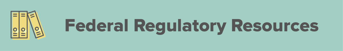 federal regulatory resources