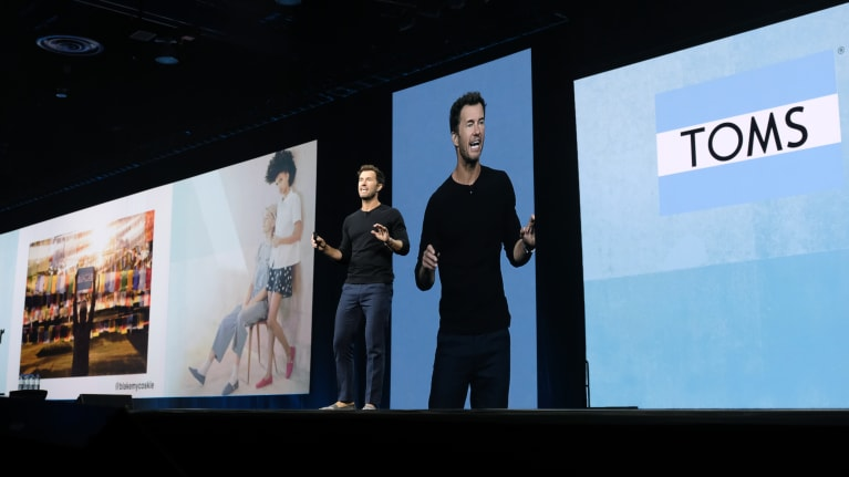 Blake Mycoskie, the founder of TOMS, discussed self-help and his depression diagnosis at SHRM's 2019 Annual Conference and Expos