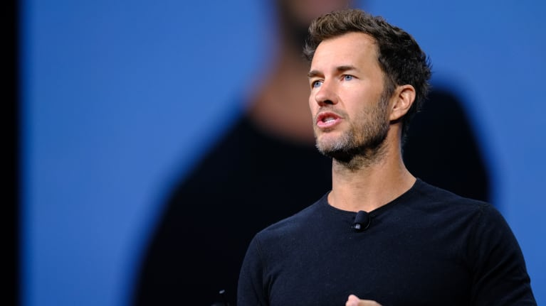 TOMS founder Blake Mycoskie speaks at SHRM's 2019 Annual Conference and Exposition in Las Vegas.