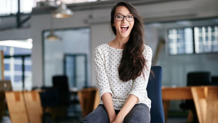happy intern