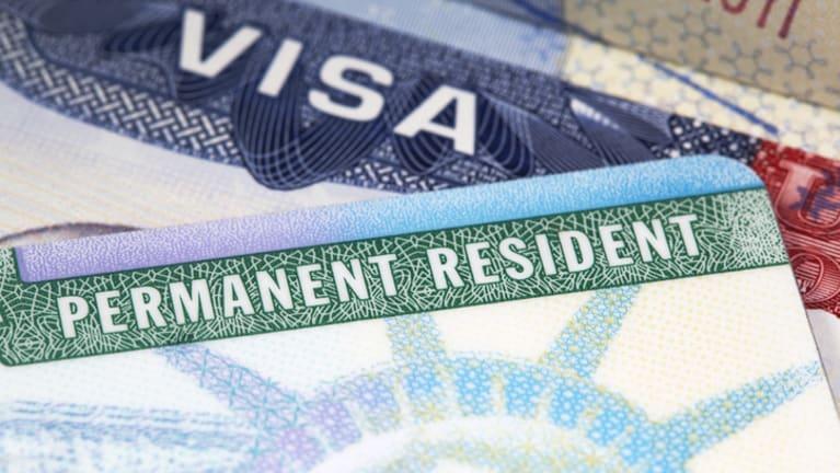 visa, green card