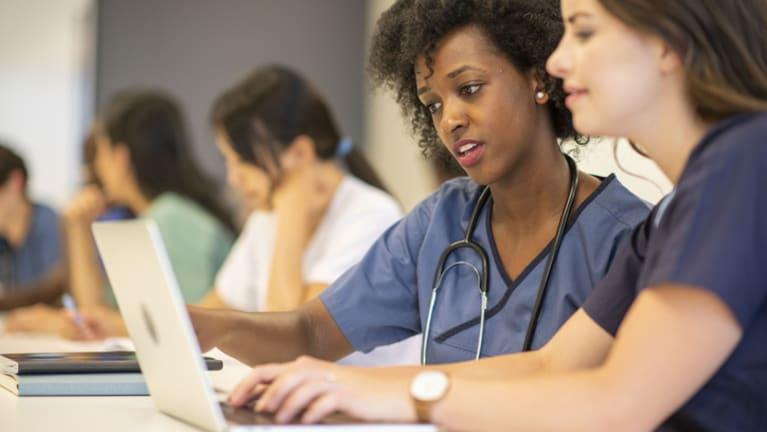 diverse nursing students