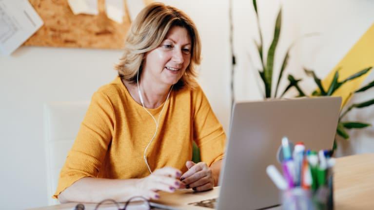 woman verifying employment