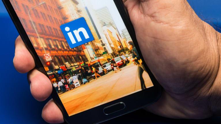 Using LinkedIn app