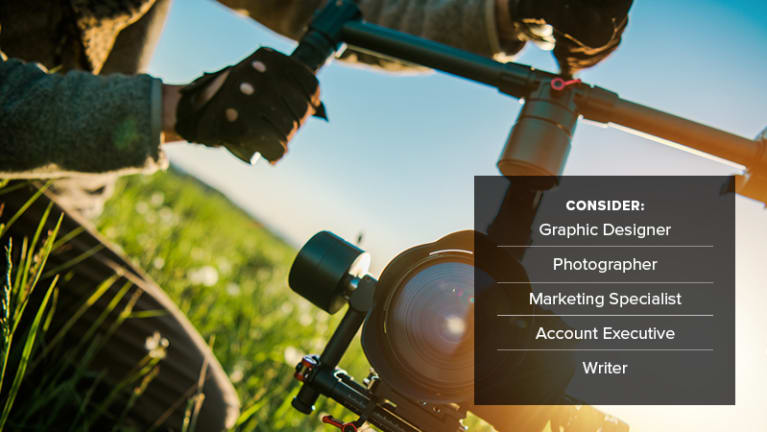 • Film and TV production employees: graphic designer, photographer, marketing specialist, account executive, writer