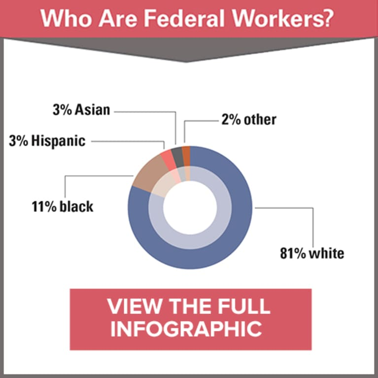 Who Are Federal Workers Infographic