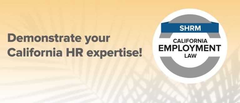 SHRM California Specialty Credential