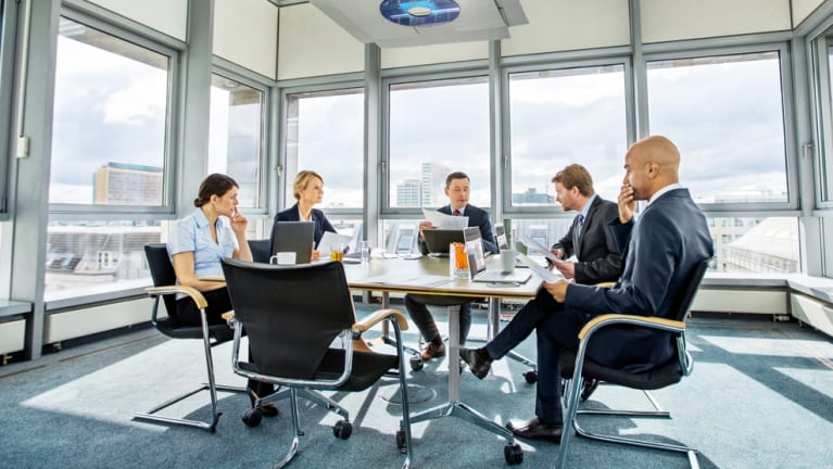 Business colleagues meeting in conference room