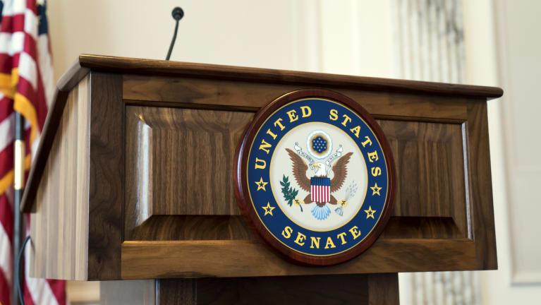 U.S. Senate lectern