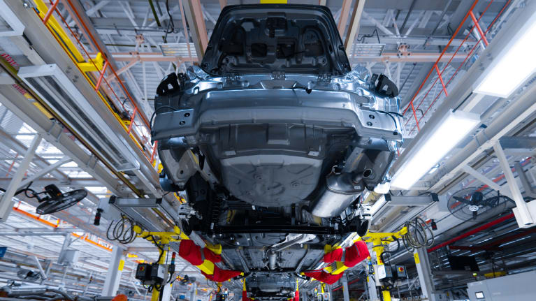 cars being manufactured