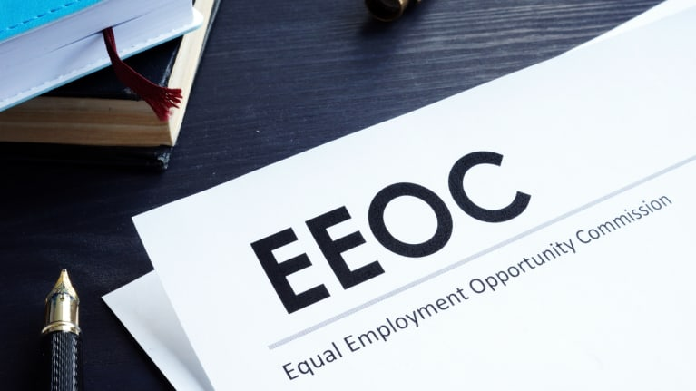 EEOC documents on desk