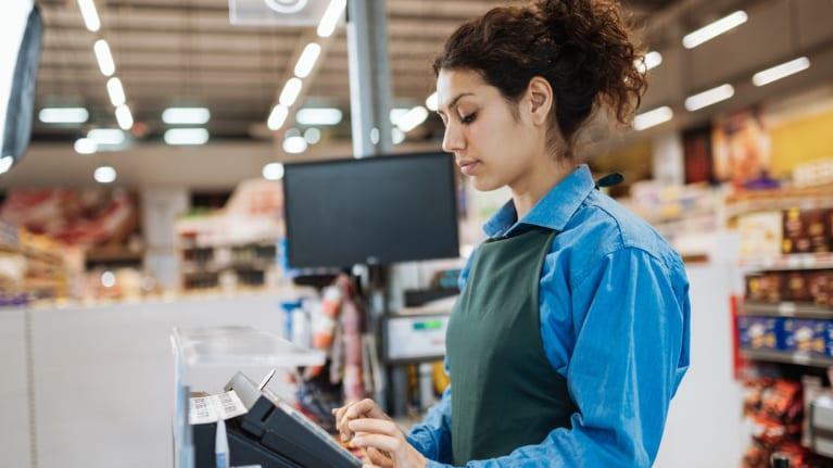grocery clerk