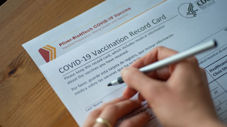 Filing COVID-19 Vaccination Record Card