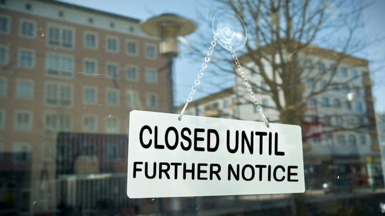 sign in window says closed until further notice