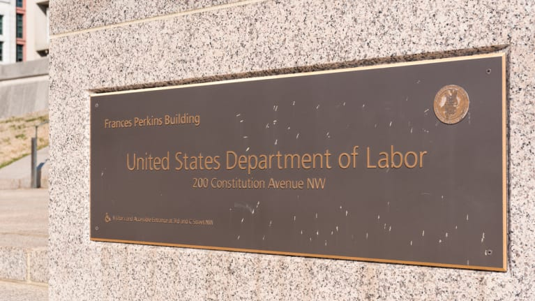 DOL headquarters sign