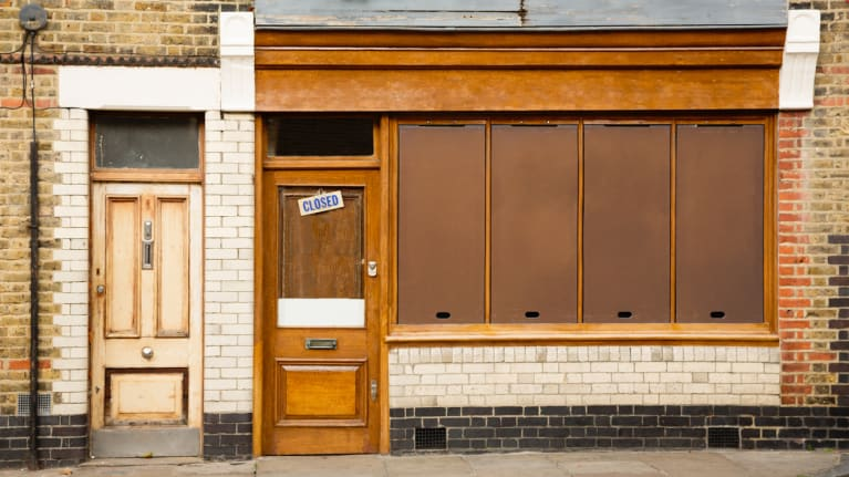 Closed store front