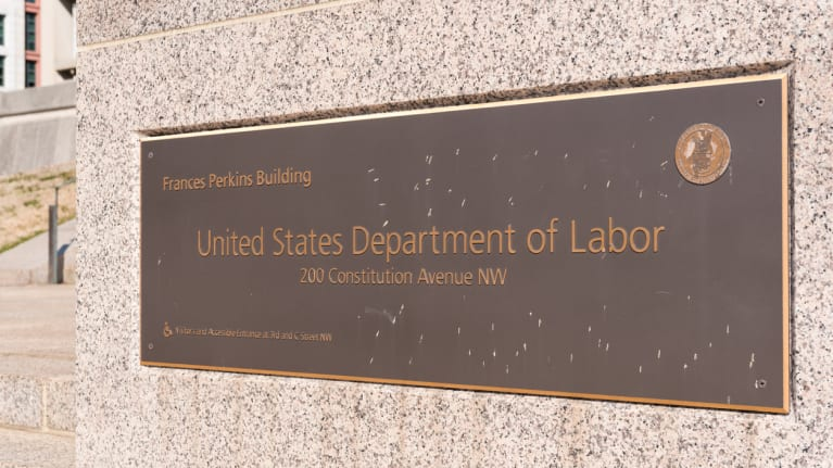 U.S. Department of Labor headquarters sign