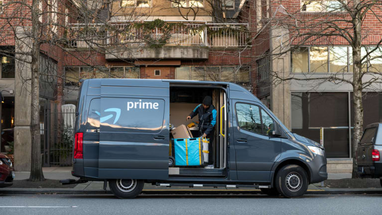 Amazon Prime Delivery Truck