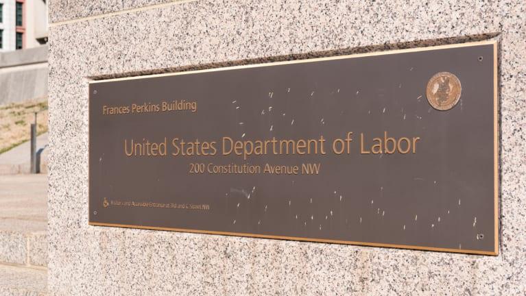 Department of Labor headquarters sign