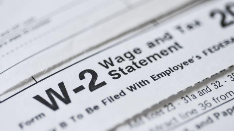 A W-2 wage statement