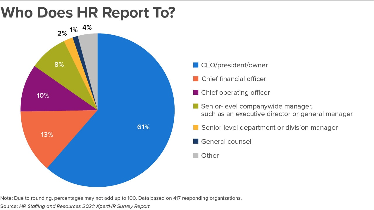 Who does HR report to?