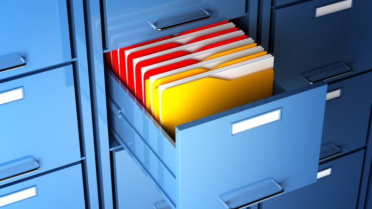 files in cabinet