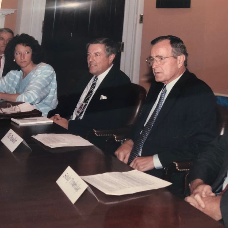 Former SHRM CEO Susan Meisinger, far left, was a supporter of the ADA.