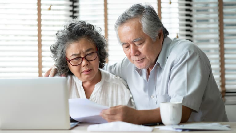 couple going over expenses