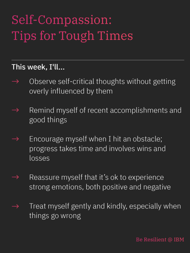 Self-compassion: Tips for Tough Times