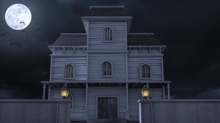 Night in Haunted House