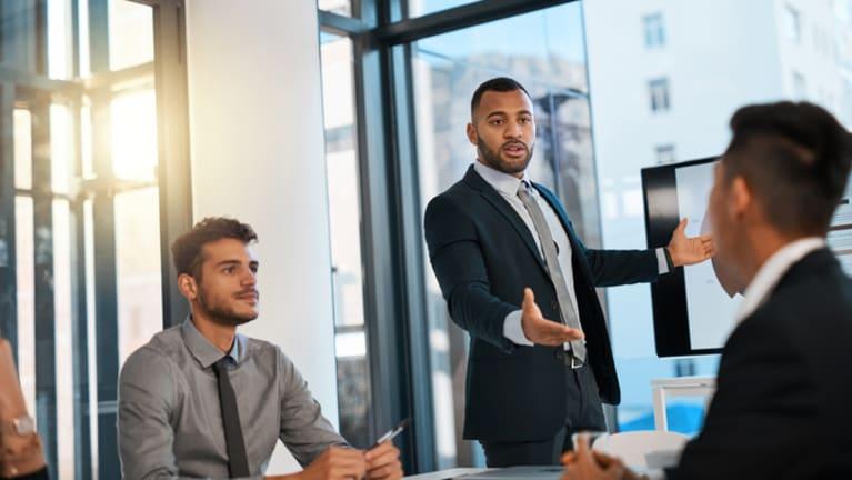 presenting in meeting