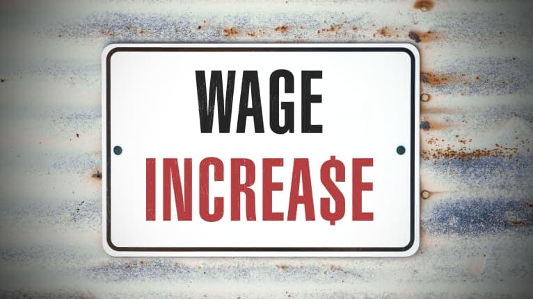 wage increase sign