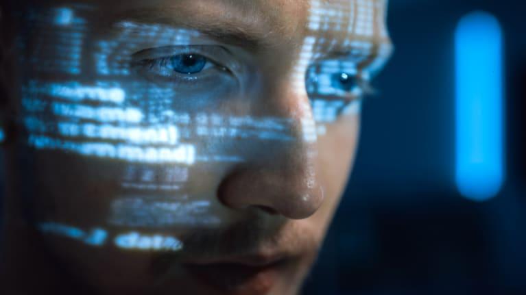 close up of hacker