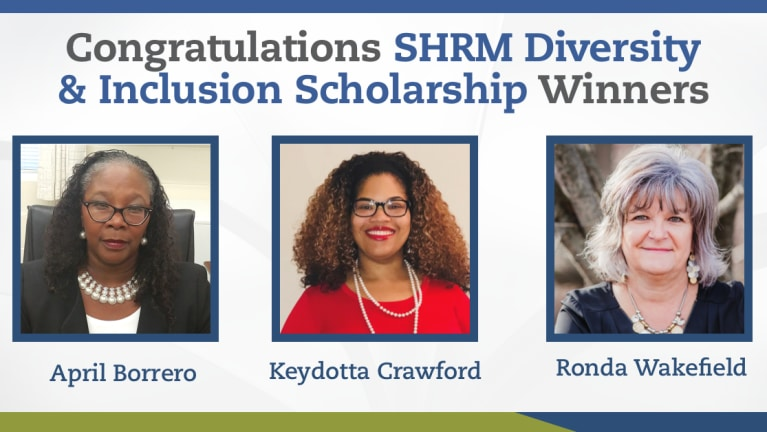 Diversity and Inclusion Scholarship Winners