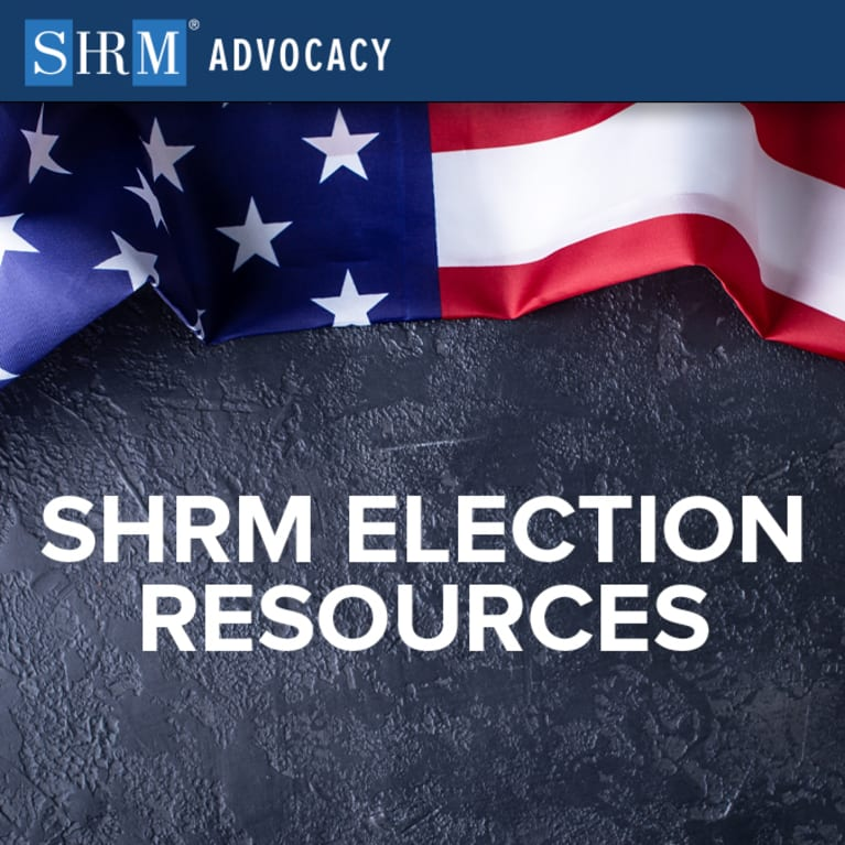 2020 election information from SHRM