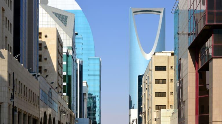 Downtown Riyadh, Saudi Arabia