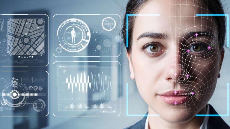 AI conceptual image of a face