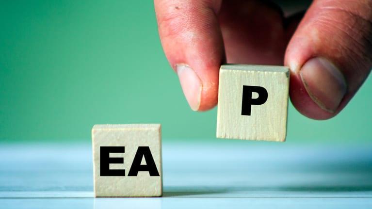 Blocks spelling out EAP
