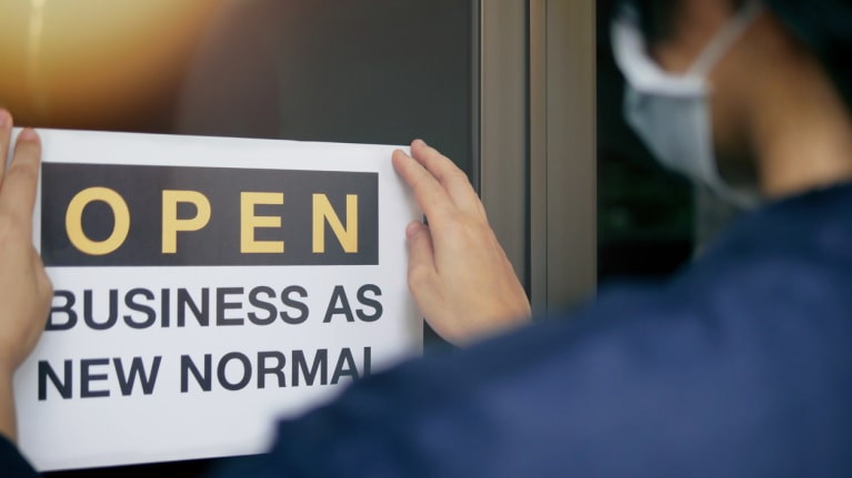 Open business as new normal\