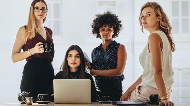 four professional women