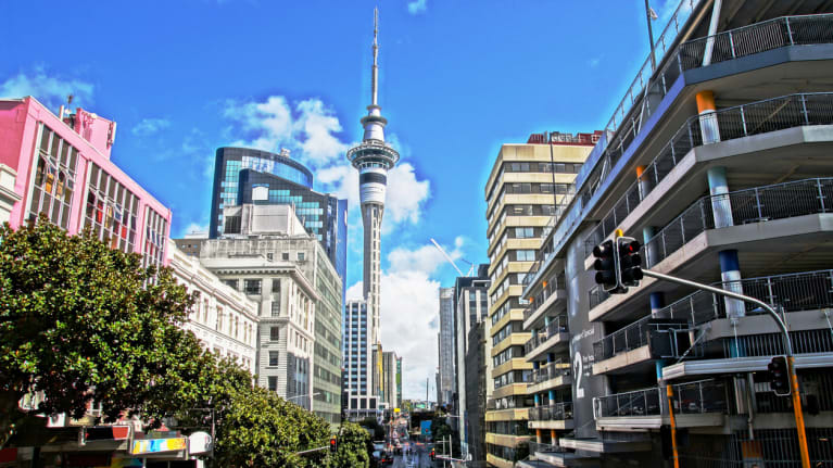 downtown Auckland, New Zealand