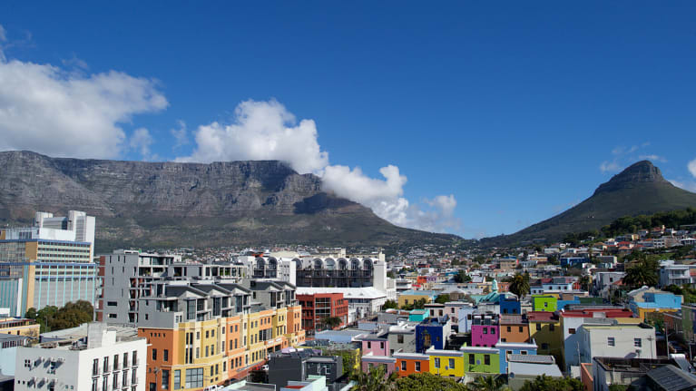 Capetown, South Africa with mountains in the background